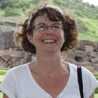 Jane, at the Kailash Temple, Ellora, India