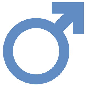 Male symbol mixed with Diabetes symbol