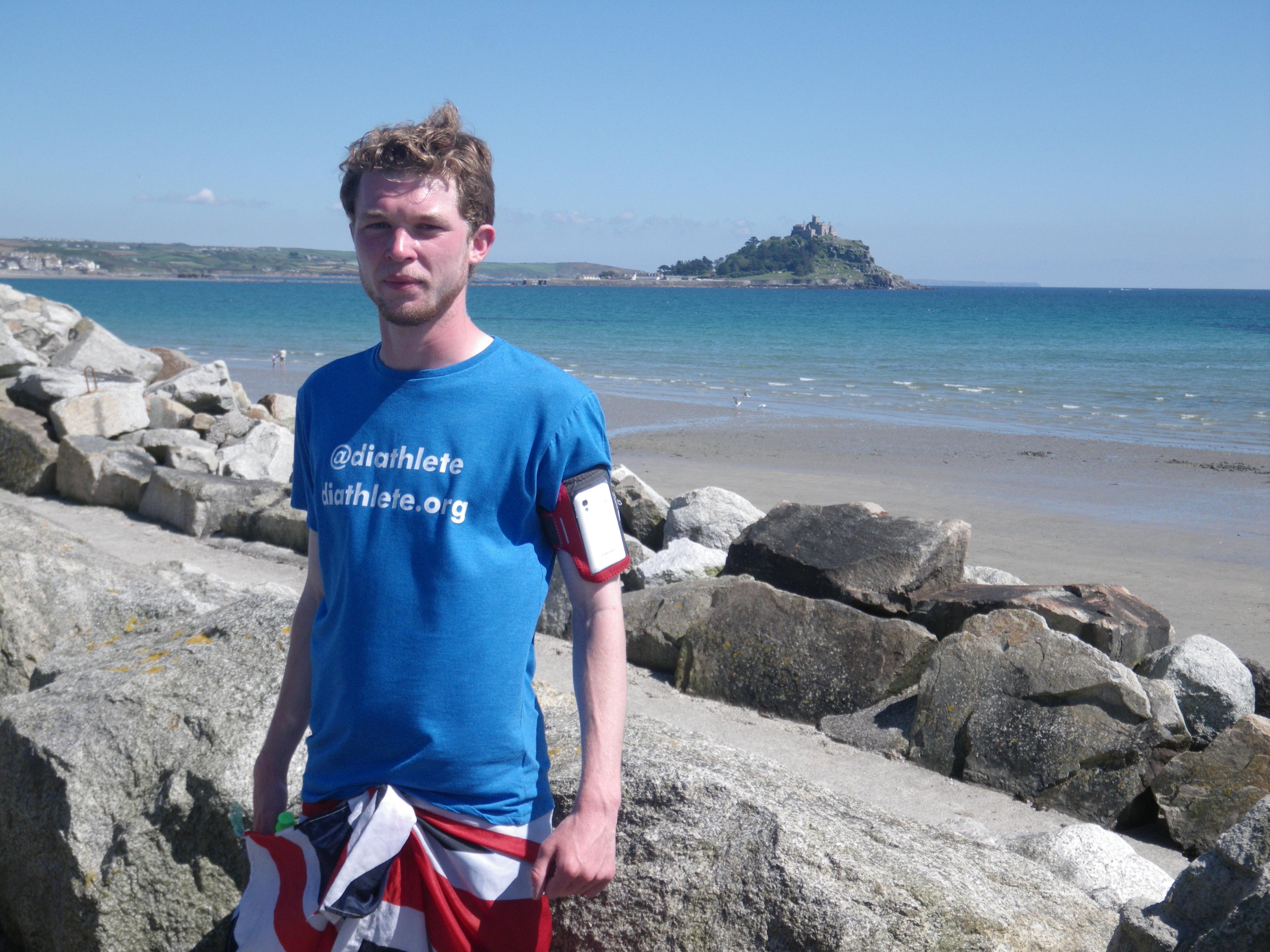 Gav in front of St Michael's Mount