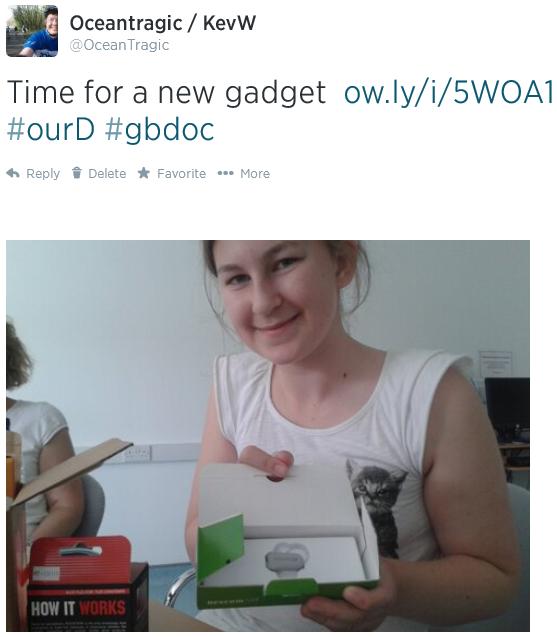 Amy with new sensor