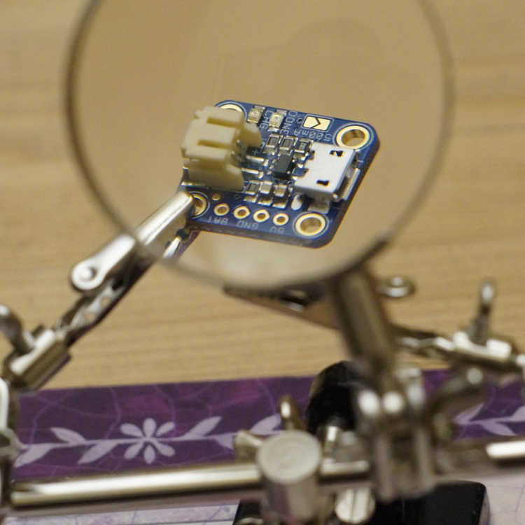 AdaFruit charger magnified